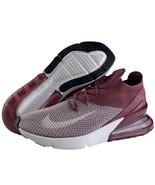 Nike Air Max 270 Flyknit Size 12.5 Mens Plum Frog White Vintage Wine Bur... - $144.95