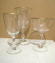 Gold Rim Stemware Wine Glass YOU PICK Elegant - See Full Description - V... - $4.99+