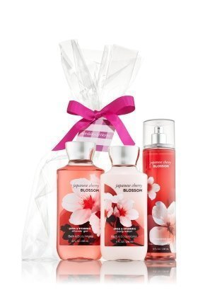 Bath & Body Works Japanese Cherry Blossom Gift Set - All New Daily Trio