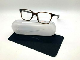 NEW NIKE 7126 205 MATTE BROWN OPTICAL Eyeglasses 50-18-145MM /CASE - $58.17