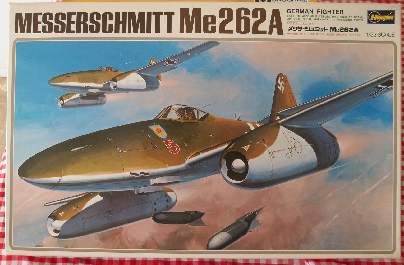 Hasegawa Messerschmitt Me262A WWII Fighter Model #SO-14 1/32 - $45.00