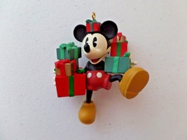 Hallmark Christmas Ornament 1998 Mickey Mouse Ready for Christmas 2nd in Series - $9.89