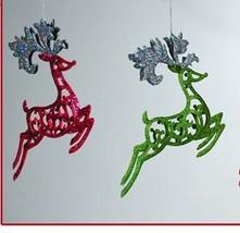 Katherine's Collection Reindeer Ornament sparkle scroll 22-24155 pinK gr... - $29.99