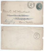 1896 Arlington Heights Mass - Kingsport Nova Scotia Forwarded to Digby N... - $11.87