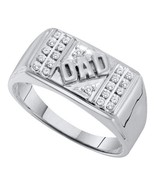 0.25ct White Diamond 925 Silver White Gold Over Men's Fathers Day DAD Ring - $105.99