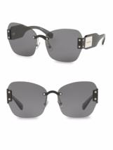 Miu Miu Sorbet Butterfly Sunglasses Smu 08S 1AB-9K1 GRAY/DARK Gray Lenses - $167.07