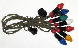 Vtg C-7 Ceramic Christmas Lights Cloth NOMA Strand, Berries, Bakelite So... - $22.00