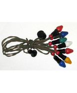 Vintage C7 Christmas Lights - Cloth NOMA Strand, Berries, Bakelite Sockets - $19.99