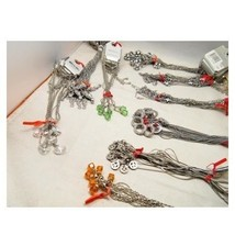 Wholesale Bulk Lot 24 Mixed Carded Silver & Gold Tone Chain Pendant Neck... - $28.60
