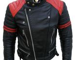 New brando style mens motorcycle biker leather jacket   cowhide premium leather main 1 thumb155 crop