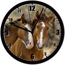 "Horses (No.2), EXCLUSIVE! 8"" Homemade Wall Clock w/ Battery, FREE SHIPPING - $23.97"