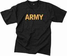Black Army Workout PT T-Shirt Physical Training APFU Gym Tactical Milita... - $10.99+