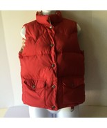 American Eagle Womens  Winter Puffer Vest Red Reversible  - $19.79