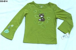 Sonoma Size 4 Olive Green Long Sleeve T-Shirt NWT - $12.99