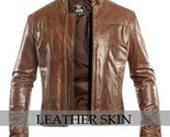 Brown leather jacket front l thumb155 crop