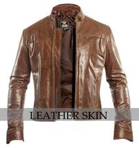 NWT Dark Brown Premium Genuine Pure Leather Jacket - All Sizes image 1