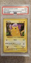 Pokemon Red Cheeks Pikachu 58/102 Shadowless Base Set PSA 10 1999 Pokemo... - $109.95
