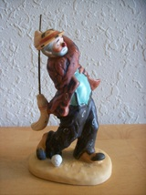 "1986 Emmett Kelly ""Golfing with Broom"" Figurine  - $30.00"
