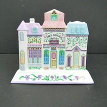 The Lenox Village Fine Porcelain Napkin Holder 1994 Clean Small Chip Taiwan - $39.55