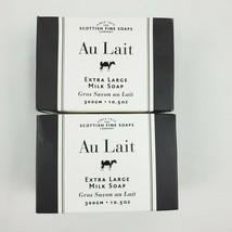 2X The Scottish Fine Soaps Co. Au Lait XL Milk Soap Bar 10.5oz / 300 g each - $26.95