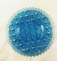 Challinor No 303 Aqua Blue Daisy Button EAPG Plate Scallop Rim VFC - $29.95