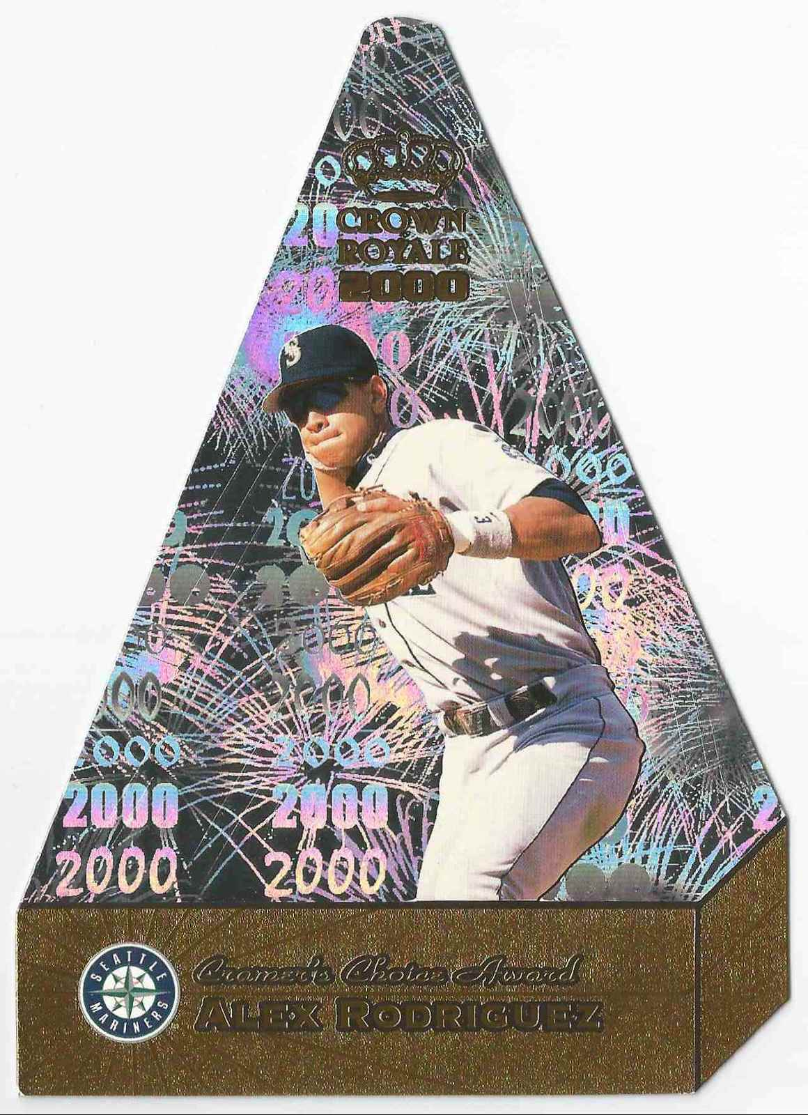 2000 topps crown royale  10 alex rodriguez
