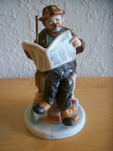 "1986 Emmett Kelly ""Wall Street Journal"" Figurine  - $28.00"