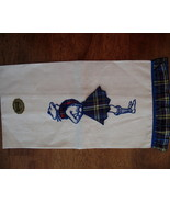 Vintage Imperial Linen Tea Towel NEW Scottish Dancer in Kilt Tartan Plaid  - $19.95