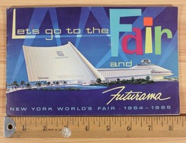 Vintage 1964 1965 GM Let's Go To The New York World's Fair Futurama Book - $9.50