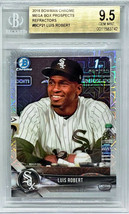 Bgs 9.5 Luis Robert Rookie Mega Box Refractor 2018 Bowman Chrome #BCP21 Hot! - $2,999.95