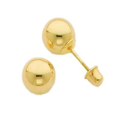 14K GOLD PLATED EARRINGS  BALL  5MM  for ALL AGES. VALENTINE SALE