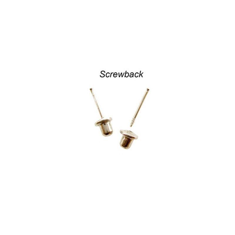 14K Gold Stud Screw Back Earrings 7.2mm  ON SALE image 3