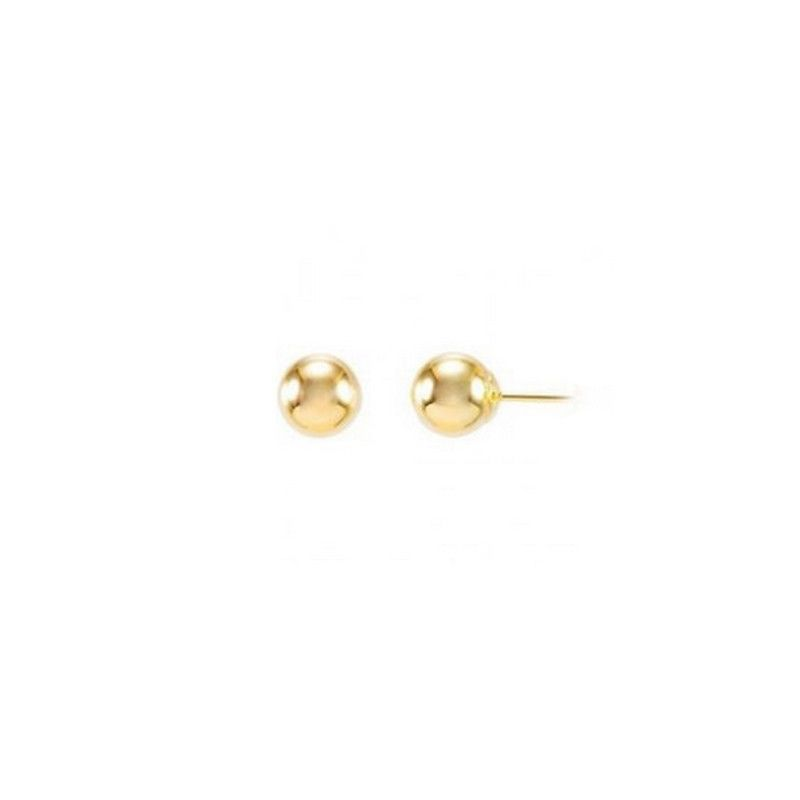 14K GOLD PLATED EARRINGS  BALL  5MM  for ALL AGES. VALENTINE SALE image 4