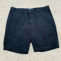 Polo Ralph Lauren mens shorts size 40 black chino prospect short flat front - $15.19