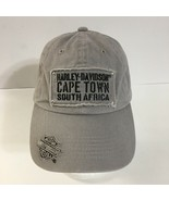 Harley Davidson Ball Cap Hat Gray CAPE TOWN SOUTH AFRICA  - $24.75