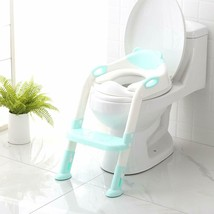 Potty Training Seat with Step Stool Ladder (Blue)