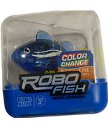 Zuru Robo Alive ROBO FISH Color Change Water Activated  Blue Toy Fish New! - $17.81