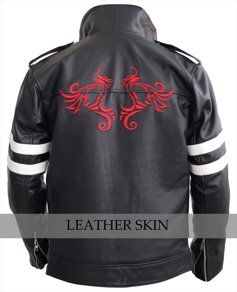 NWT Alex Mercer Prototype PS3 Premium Genuine Pure Real Leather Jacket Costume image 2