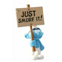 SMURF WITH A SIGN IN BOXSET RESIN STATUE PLASTOY image 2