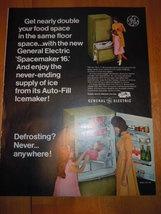 Vintage General Electric Defrosting Refrigerator Print Magazine Advertisement 19 - $4.99