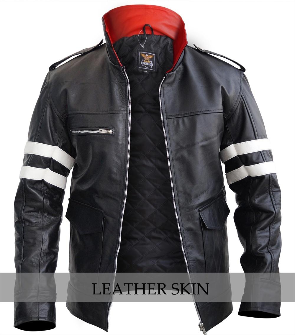 NWT Alex Mercer Prototype PS3 Premium Genuine Pure Real Leather Jacket Costume