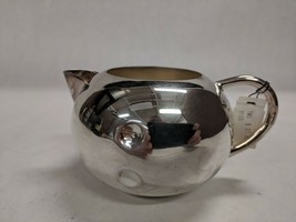 TWOS COMPANY INDIA VINTAGE SILVER METAL PITCHER DECORATIVE TEAPOT TABLEWARE - $19.79