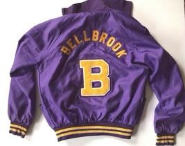 Holloway Varsity Letter Patch Windbreaker Bellbrook Jacket Snap Buttons Retro US - $84.64