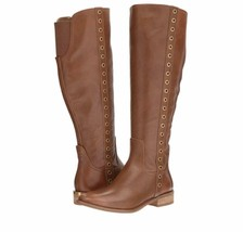 Michael Kors Dora MK Women's Knee High Leather Riding Boots Luggage Size 6 NEW