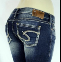 SILVER Jeans Sale Low Rise Tuesday Stretch Jean Denim Mid Shorts SIZES 2... - $19.97
