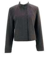 Ann Taylor Stretch Women's Brown Wool Blend Mock Neck Long Sleeve Jacket... - $19.80