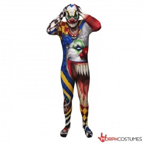 Combinaison Moulante Clown Effrayant Monster Adulte Halloween Costume de Luxe