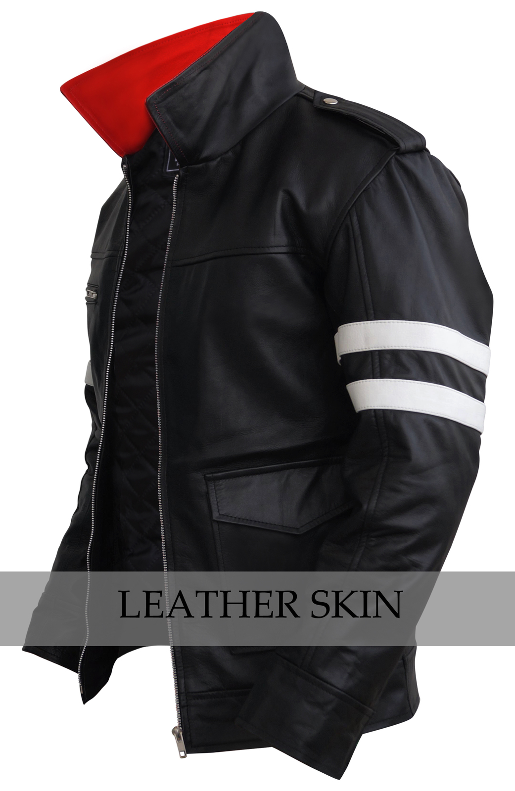 NWT Alex Mercer Prototype PS3 Premium Genuine Pure Real Leather Jacket Costume image 3