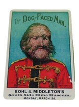Vintage Reproduction Dog Faced Man Sign 8 X 12 Inches New Aluminum Freak... - $20.00