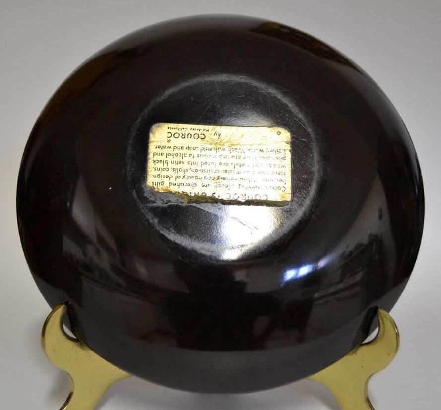 Couroc of Monterey ~ 2 Phenolic Inlaid Bowls ~ Road Runner & Cardinal image 8
